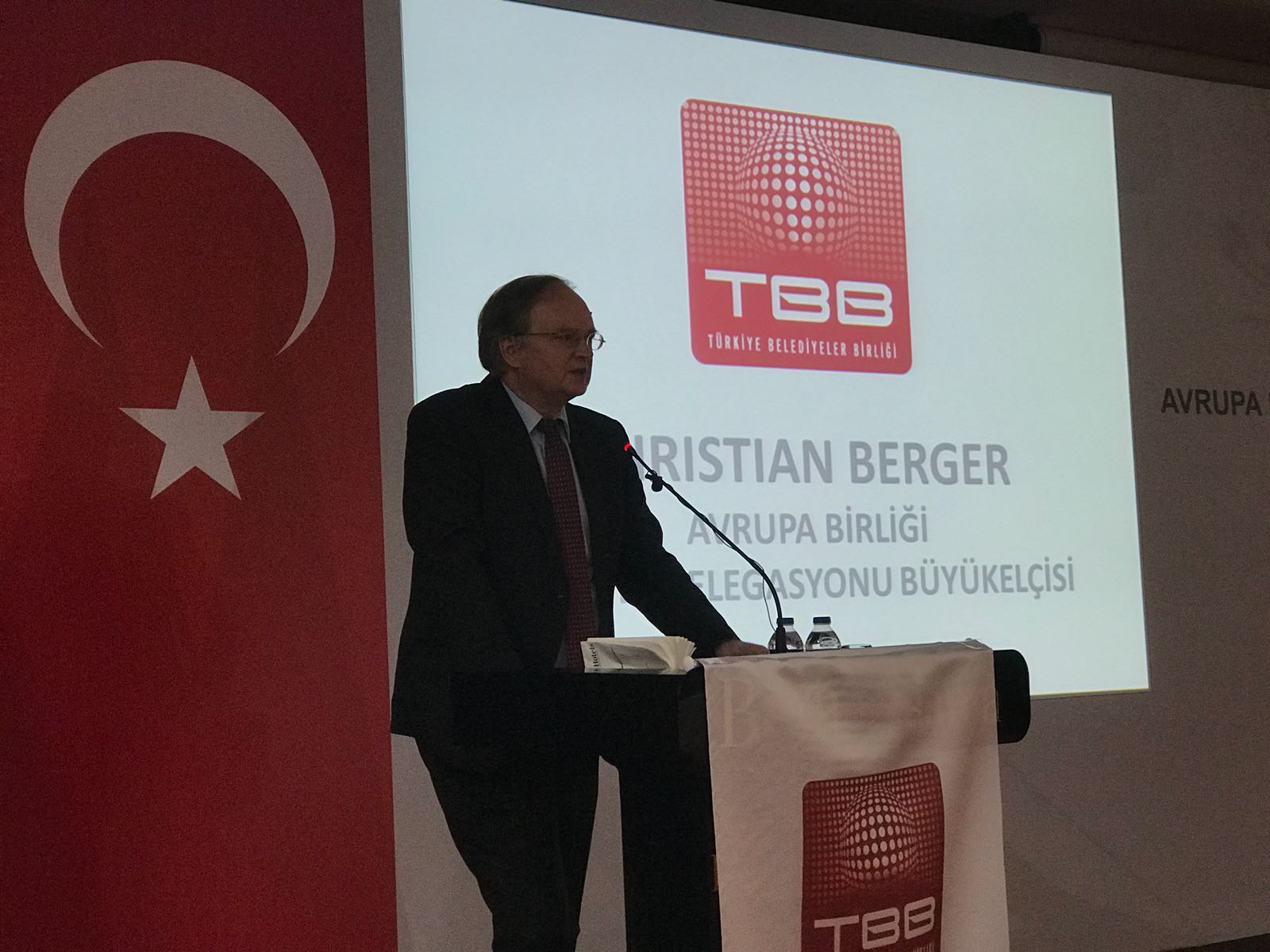 Ambassador Berger at the Mobility Week Launch event in Antalya