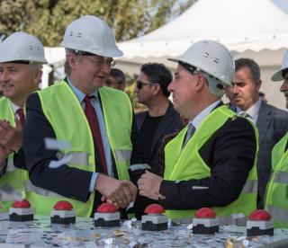 EU, Turkish Ministry of National Education, AFAD and KfW celebrating the ground-breaking ceremony of 60 pre-fabricated schools