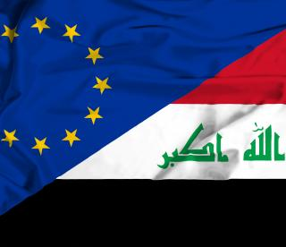 EU and Iraq flags
