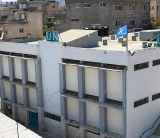 West Bank United Nation School.