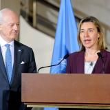 Remarks by HR/VPMogherini at the press point with Staffan de Mistura, UN Special Envoy for Syria
