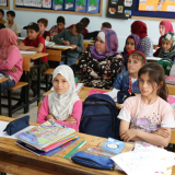 EU high-level visit to Ankara school that successfully integrated Syrian children