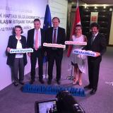 The EU Delegation team at the Mobility Week launch event