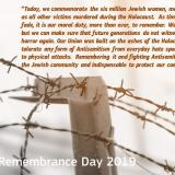 President Jean-Claude Juncker on the occasion of Holocaust Remembrance Day 2019