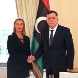 Federica Mogherini meets with the Prime Minister of Libya, Fayez al-Sarraj and UN Secretary General Special Representative for Libya Ghassan Salamé