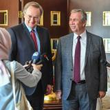 The Head of EU Delegation to Turkey, Ambassador Christian Berger, met with Ankara Metropolitan Mayor Mansur Yavas today