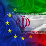 Iranian and EU flags