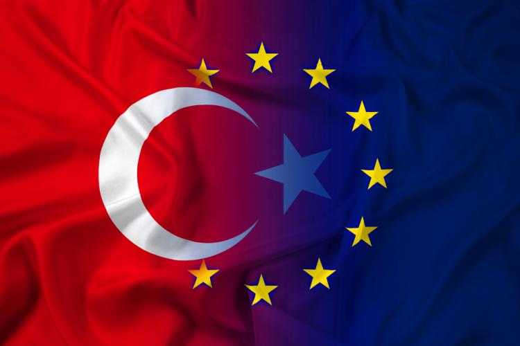 Blending Turkey and EU flags