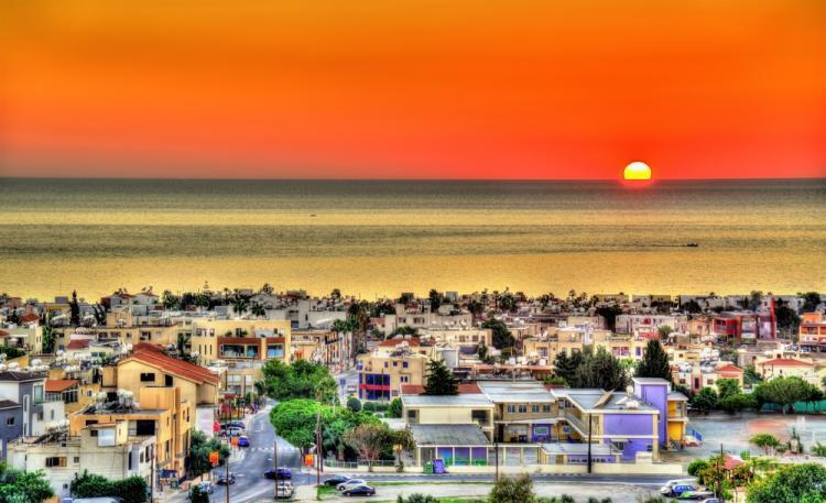 Cyprus Sunset above the city of Paphos