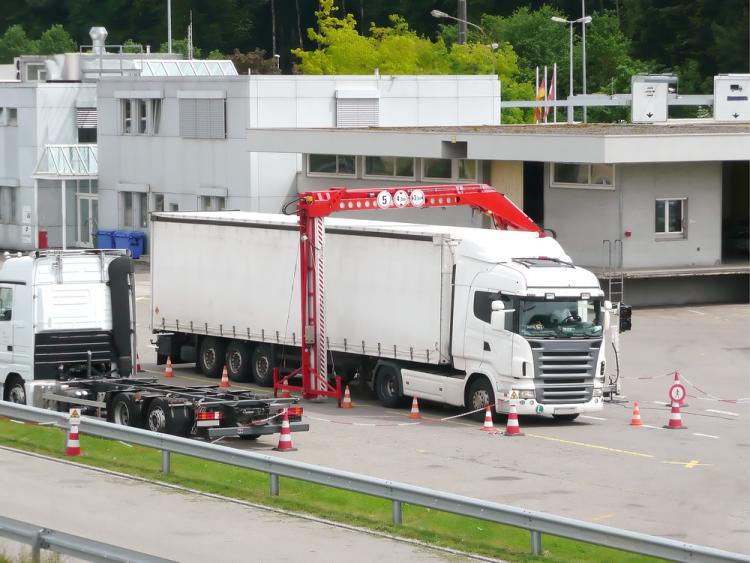 A truck at the swiss german border