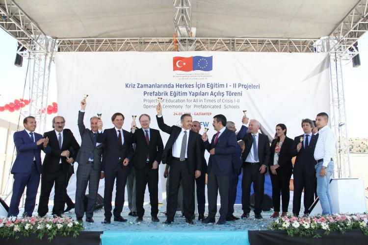 Head of Delegation Christian Berger participated in a school opening and visited projects in Gaziantep