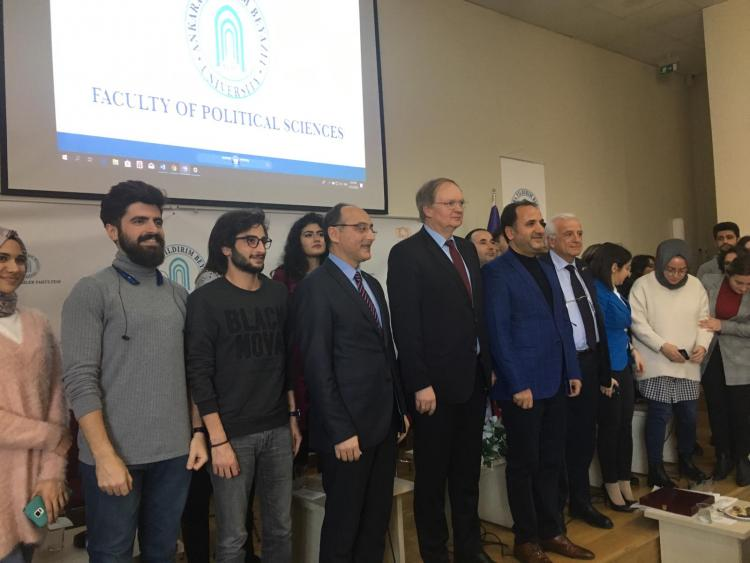 Ambassador Berger with students